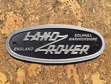 Land Rover Solihull Warwickshire Badge Emblem Landrover (Not Cast Aluminium)
