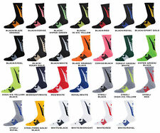 Men's New Under Armour Undeniable Crew Socks Black/HI-VIS Yellow MD 4-8 1/2