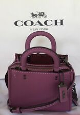 COACH F22978 1941 Glovetanned Rogue 17 Primrose Pebble Leather Crossbody NWOT