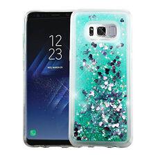 For Samsung Galaxy S8 Liquid Waterfall Glitter Sparkle Quicksand Skin Case Cover