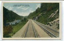 Queen & Crescent Route Railroad Double Track Rock Ballast 1920c postcard