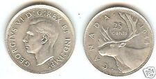 AU/UNCIRCULATED 1944 CANADIAN QUARTER~WOW~FREE SHIPPING