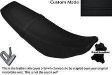 Negro Stitch Custom Fits Yamaha Wr 125 R X 09-13 Doble Cuero Funda De Asiento