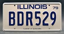 Blues Brothers / Bluesmobile / BDR529 *METAL STAMPED* Prop Replica License Plate