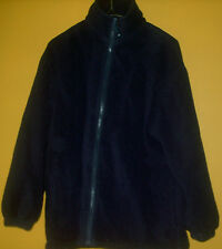 MENS  Medium Dark Blue Longsleeve Fleece Jacket Now for Fall FREE SHIPPING