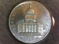 100 FRANCS 1982 (Scellée Fleur De Coin) Panthéon FRANCE - F.451/2 - FDC