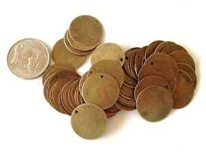 50 x Tarnished Bronze Round Blank Stamping Tags Pendants 20mm Engraving Discs