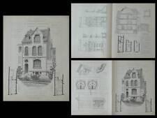 LA ROCHELLE, HOTEL 19 RUE LANOUE - GRAVURES ARCHITECTURE 1910 - LAINE