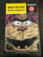 """AVENUE Q  WINDOW CARD POSTER SIGNED BY FULL BROADWAY CAST 2005 14"""" X 22"""""""