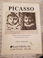 Pablo Picasso Avanti Galleries NY Poster