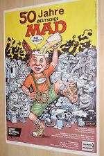 MAD - 50 Jahre deutsches MAD - Plakat/Poster - NEU - Valentin Musäum