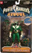 """Power Rangers Lightspeed Rescue 5"""" Green Armor Ranger New Factory Sealed 1999"""