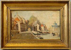 »Segler und Boote im Stadtkanal«