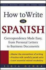 How to Write in Spanish : Correspondence Made Easy, From Personal Lett-ExLibrary