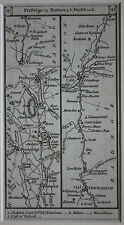 Original antique road map, Herefordshire, Radnorshire, Presteign, Paterson 1785