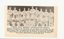 Cherry Point Marines North Carolina Picture 1953 Baseball Team Ray Semproch