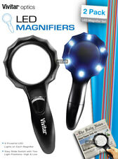 VIVITAR TWO MAGNIFIER 6 LED LIGHT MEDIUM 3X LARGE 2.5X