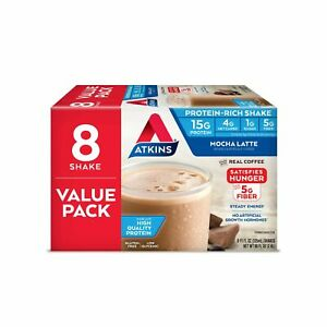 Atkins Mocha Latte Protein-Rich Shake. With High-Quality Protein. Keto-Friend...