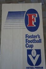 1986 FOSTERS CUP AFL RECORD CARLTON v SYDNEY SWANS