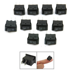 10Pcs 12V 16A Black Round Rocker Toggle Switch SPST ON/OFF Car Truck Boat 2 Pin