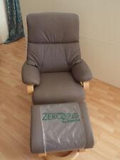 Zerostress Sessel Himolla 9006 Leder mit Hocker