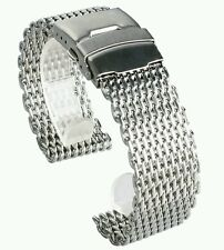 Mesh 22mm Milanesa Shark steel inoxydable band brazalete Armis Bracelet strap TT