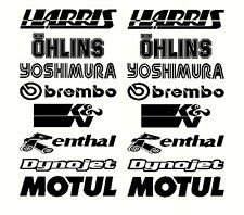 Belly Pan Motorbike Fairing Stickers  Set F  other sets available visit shop