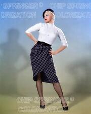 GINGER ROGERS BERET & FISHNET STOCKINGS BEAUTIFUL COLOR PHOTO BY CHIP SPRINGER