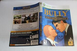 Bully Scholarship Xbox 360 replacement cover art insert only! original