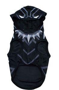 Marvel Black Panther Super Hero Dog Costume Avengers Halloween Hooded Large NWT