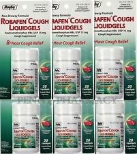 ROBAFEN Dextromethorphan Cough Gels 8hr Relief 20ct - ( 6 pack )  LIMIT 2 sets