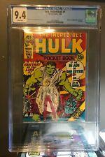 INCREDIBLE HULK POCKET BOOK #1 (1980 Marvel Comics) CGC 9.4 Highest Graded Copy!