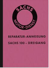 Sachs 100 ccm 3-gang motor 100ccm instrucciones de reparación manual Hercules K 100 101