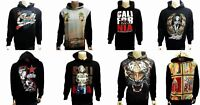 MENS CALIFORNIA PULLOVER HOODIE SWEATER MARILYN MONROE VIRGEN MARY TIGER CALI