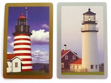 PAIR SWAP CARDS. AMERICAN LIGHTHOUSES. WEST QUODDY & CAPE COD. CONGRESS.