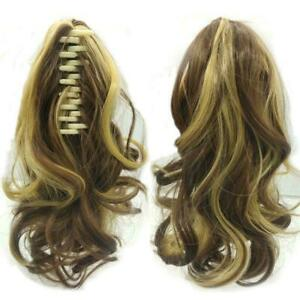 Claw Clip Ponytail Extension Long Wavy Pony Tail Hair Curly- S3G5 S3O1