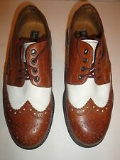 KENNETH COLE BROWN OFF WHITE WING TIP OXFORD MENS SHOE SIZE 8 M