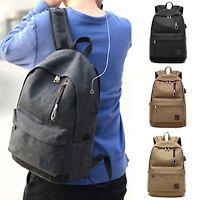 Mens Backpack Travel Sport Rucksack Laptop School Shoulder Bags Notebook Bookbag