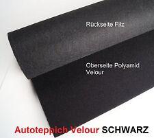 Autoteppich Velour Schwarz Leicht  Meterware Oldtimer Jungtimer Tuning