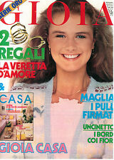GIOIA N. 39 27 SETTEMBRE 1982 MODA ITALIAN FASHION MAGAZINE BOSE' GRACE KELLY