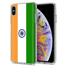 Thin Gel Phone Case For Apple iPhone Xs MAX,Flag India Buddhism Bollywood Print