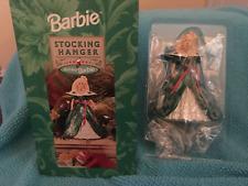 1996 Happy Holidays Barbie Hallmark Stocking Hanger Holder Christmas NEW IN BOX