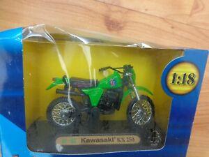 WELLY BOXED 1/18 KAWASAKI KX250 SPECIAL EDITION MOTORCYCLE BIKE