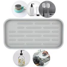 Kitchen Sponge Holder Silicone Sink Tray Sponges Soap Dispenser FDA Drying Mat
