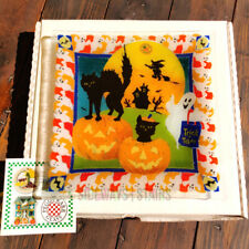 "2003 PEGGY KARR BOO GLASS PLATE halloween decoration signed 10"" square dish RARE"