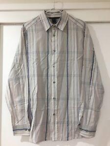 Marc Jacobs Mens White Checkered Button Shirt Size M EUC