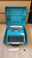 Rare Vintage Olivetti Studio 45 Teal Green Typewriter In Original Case