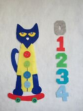 Pete the Cat and His Four Groovy Buttons Felt Board Story/Flannel Board/ECE/kid