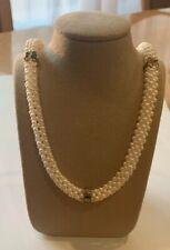 14k Pearl Gemstone Necklace