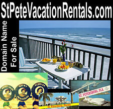 St Pete Vacation Rentals .com Weekly Income Rent Beach Domain Name For Sale URL